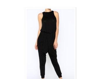 The Anastasia Harem Pant Black Jumpsuit