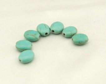 T-T042 42pcs,1strands,8*10mm,1.5mm oval shape turquoise/calaite/kallaite beads,Natural stones wholesale,DIY Jewelry supplies wholesale