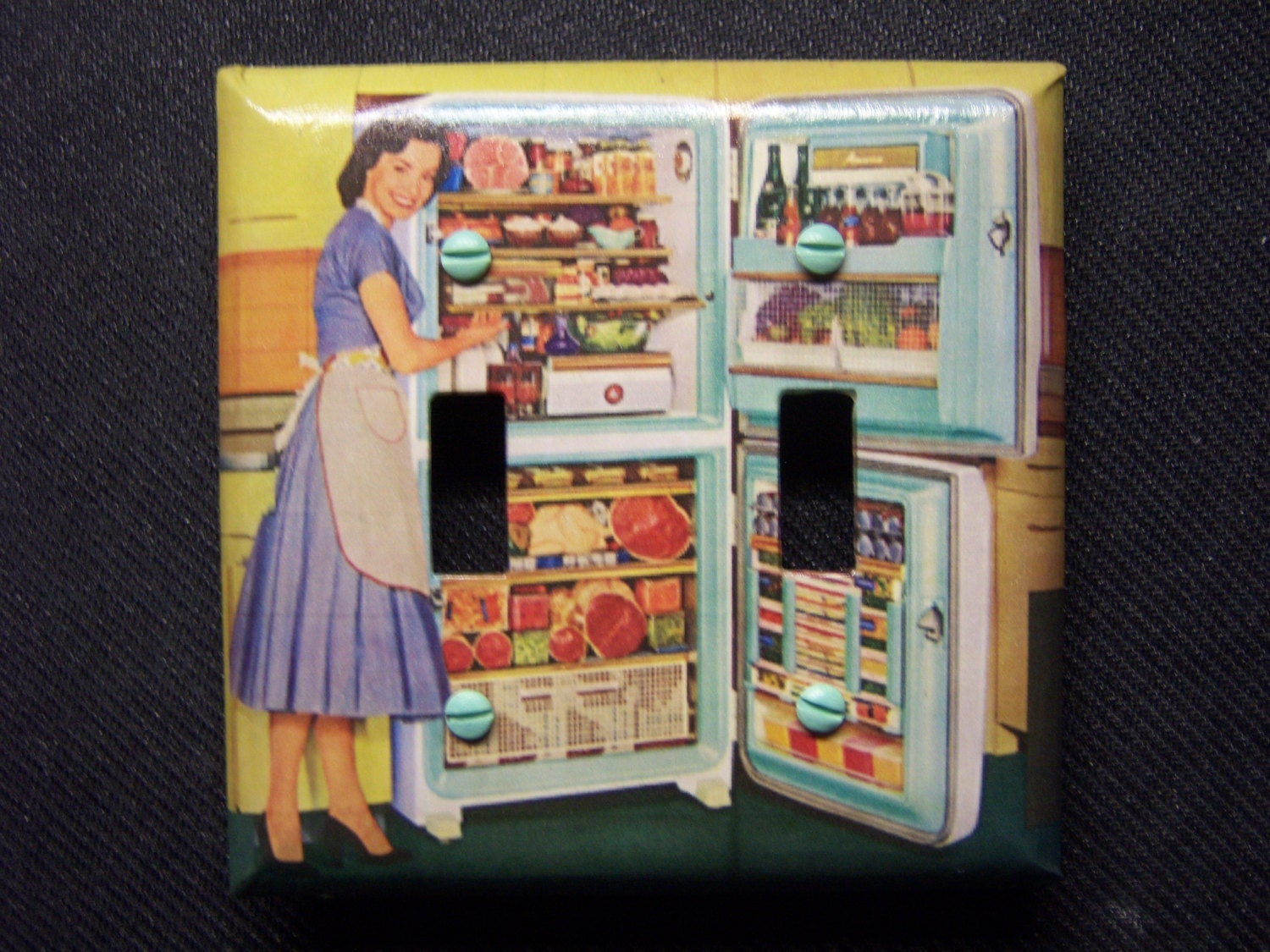 Light Switch Cover 1950s Kitchen by SwitchPlateEmporium on Etsy