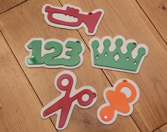 5 x Tidy Up Tags for Toy Boxes ©