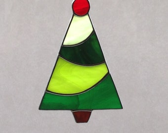 Stained Glass Christmas Tree Ornament/Suncatcher