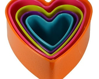 Multi Color Heart Cookie Cutter Set