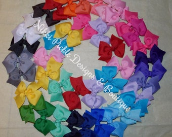 Best Seller / 55 colors to choose from /1.00 each hair bows / You choose the Quantity