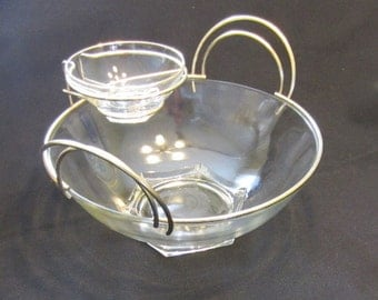 Vintage Hollywood Regency-Style Art Deco Chip and Dip Set