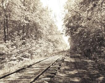 Black and White Railroad