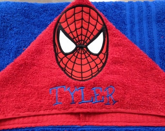 Spider-man Appilque Hooded Towel