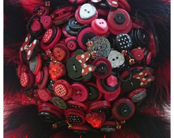 Minnie Mouse Brides Button Bouquet