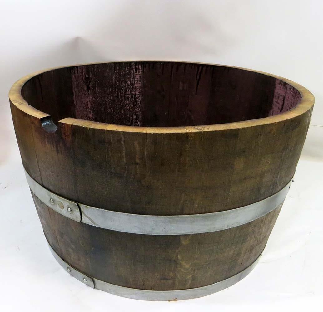 Half Wine Barrel Planter 27w X 16h Wbp 26