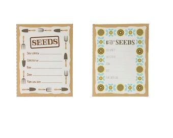 Customizable seed packets envelopes for homegrown seeds - 10 per package