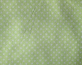 Baby Crib Sheet or Toddler Bed Sheet - Green with White Polka Dots