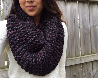 Super Chunky Knit Cowl Scarf | The Lake // Violet Marble
