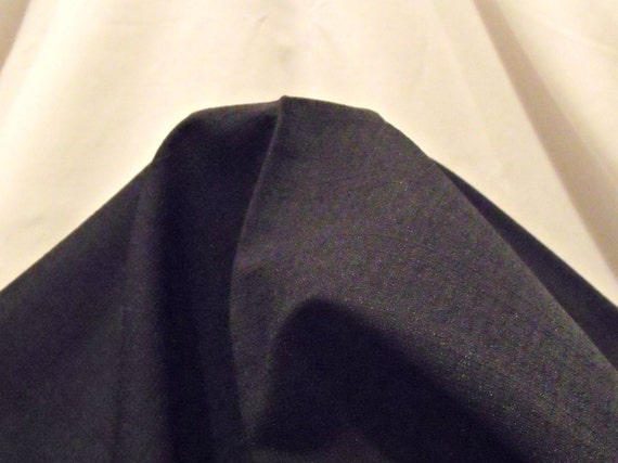 """new remnant of black polyester skirt fabric, dress making fabric, craft fabric, 44"""" x 52"""","""
