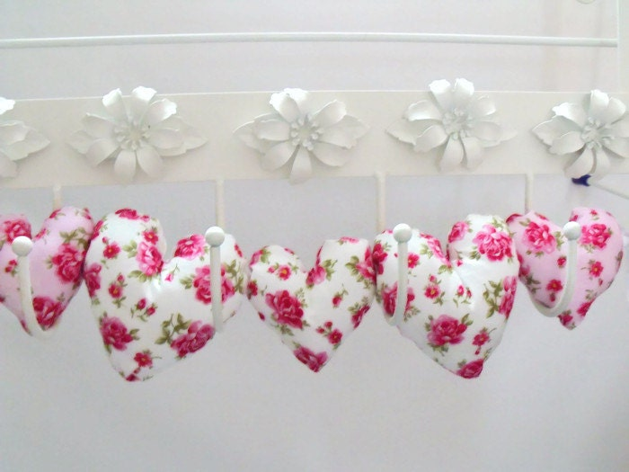 Hanging Heart Wall Decor : Fabric hanging heart decoration plush hearts wall d?cor