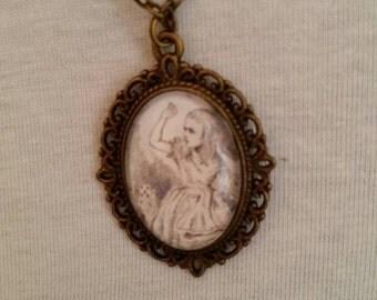 Alice in Wonderland pendant necklace.