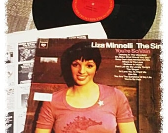 Liza Minnelli The Singer LP, Youre So Vain Liza Minnelli,Liza Minnelli record,vintage vinyl record,Liza Minnelli KC32149,still in plastic NM