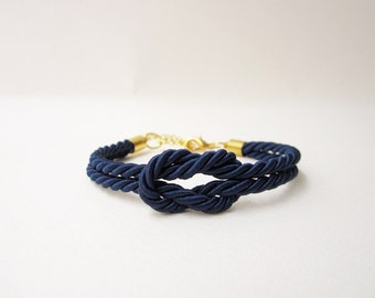 bridesmaid gift navy wedding nautical wedding tie the knot bracelet rope bracelet summer wedding sailor bracelet will you be my bridesmaid