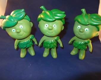 Set of 3 Vintage  Green Giant Sprouts Man/ Toy / Figurine