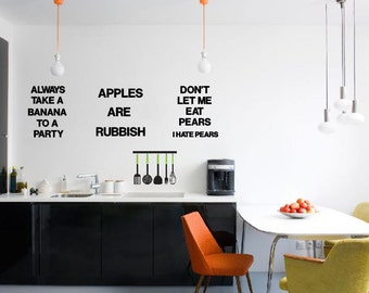 Always Take a Banana To a Party- wall decal