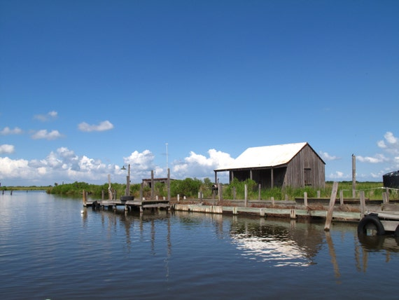 Items similar to 5 x7 blank photo card fishing camp in for Louisiana fishing camps