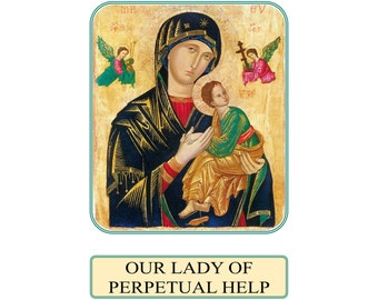Prayer to Our Lady of Perpetual Help Prayer Card