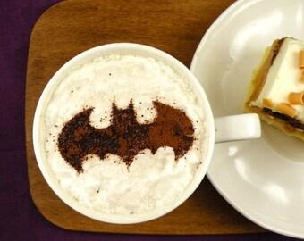 Batman  - coffee stencil, cake stencil, cupcake stencil