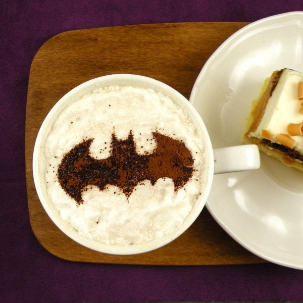 Image result for coffee stencil batman