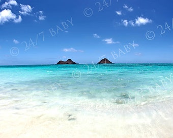 Digital Photography Download Hawaii Landscape Lanikai Beach Tropical Blue Ocean