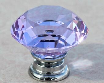 Dresser Pulls Glass Crystal Look Drawer Pull Handles Cabinet