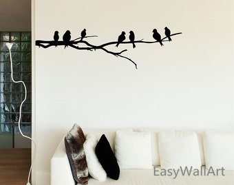 Branch Tree Wall Decals - Tree Branch Wall Decal - Branch Tree Wall Sticker, Vinyl Tree Decal, Black Branch Vinyl Wall Art Stickers T29