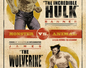 Hulk vs. Wolverine Fight Night 11x17 Poster