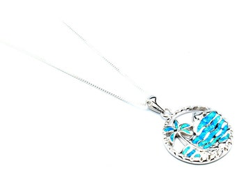 Amazing Opal with Sterling Silver Necklace
