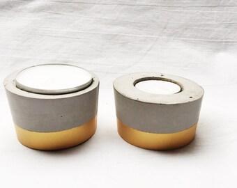 Cement tealight holder