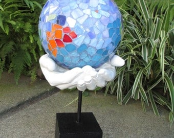 "Mosaic ""Mother earth is in our hands"" ball"