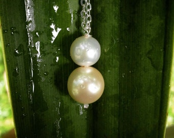 Gorgeous Pearl necklace & earrings // Genuine AAA pearl and Swarovski pearl // Wire wrapped jewelry // Handmade in Hawaii with love //