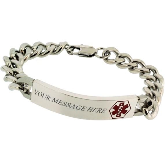 medical id bracelet personalized free engraving medical