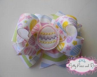 Easter Hair Bow, Easter Bow, Easter Egg Hair Bow, Easter Gift, Spring Hair Bow, Easter Egg Bow