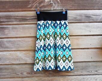 Women Jersey A-line skirt with wieber motif S/M,holiday skirt,jersey,tricot,MaaRoza