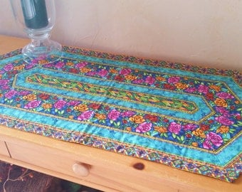 Stained Glass Quilted Table Runner