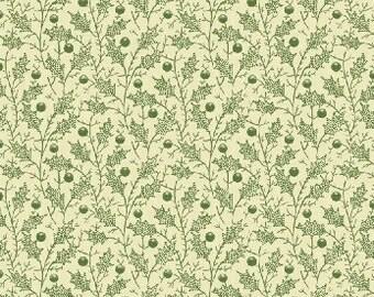 Christmas Peace - Green Holly Fabric