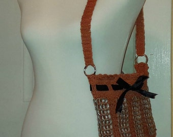 "1 Day Shipping!! NEW!! Handmade ""Pumpkin"" Soda pop top/ tab purse Child's purse"
