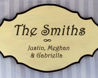 Handmade Family Name Plaque