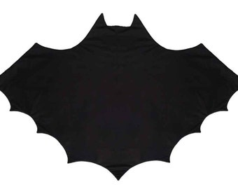 Black Bat Blanket, Kids Unique Play Mat in Black