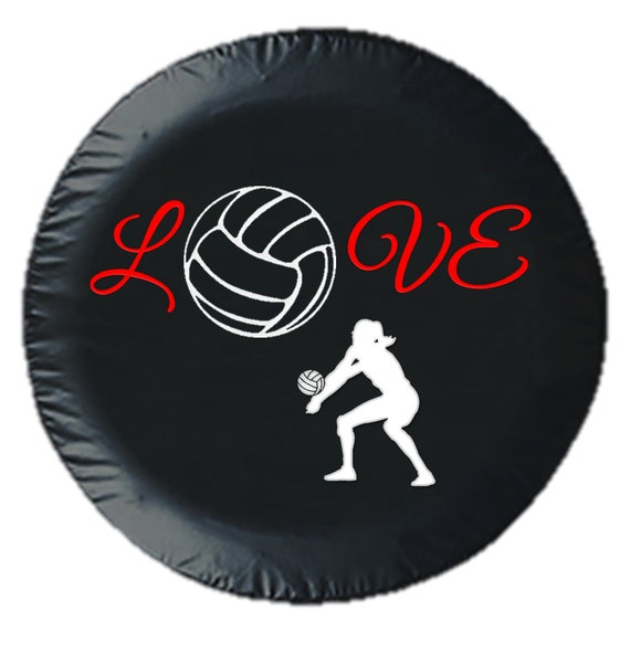 Volleyball Love Tire Cover by 6DimensionalCanvas on Etsy