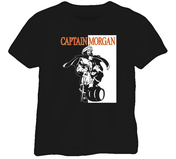 captain morgan rum gangster t shirt. Black Bedroom Furniture Sets. Home Design Ideas