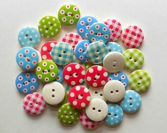 20 Random Mix coloured Buttons  - #WS-00002