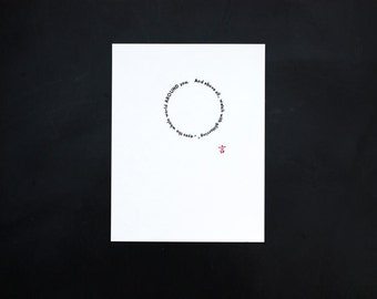 Letterpress 'And above all', original Art Print, made with old lead type, limited edition