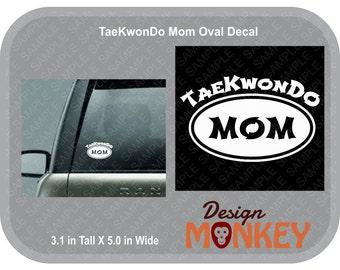 TaeKwonDo Mom Car Window Decal