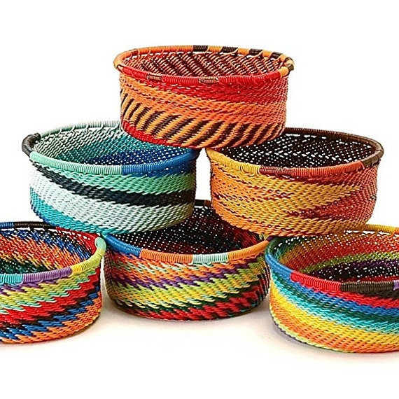South African Baskets: Items Similar To Handmade Woven Baskets, Wire Baskets