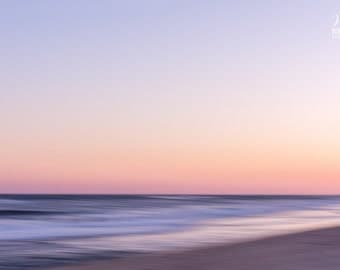 Abstract photography of the ocean at sunset, Beach art. Sunset beach.