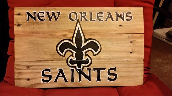 New Orleans Saints Hand Painted Wall Decor
